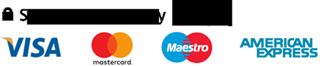 Cards Visa, Mastercard, American Express and Maestro.