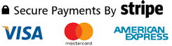 Cards Visa, Mastercard, American Express and Maestro.